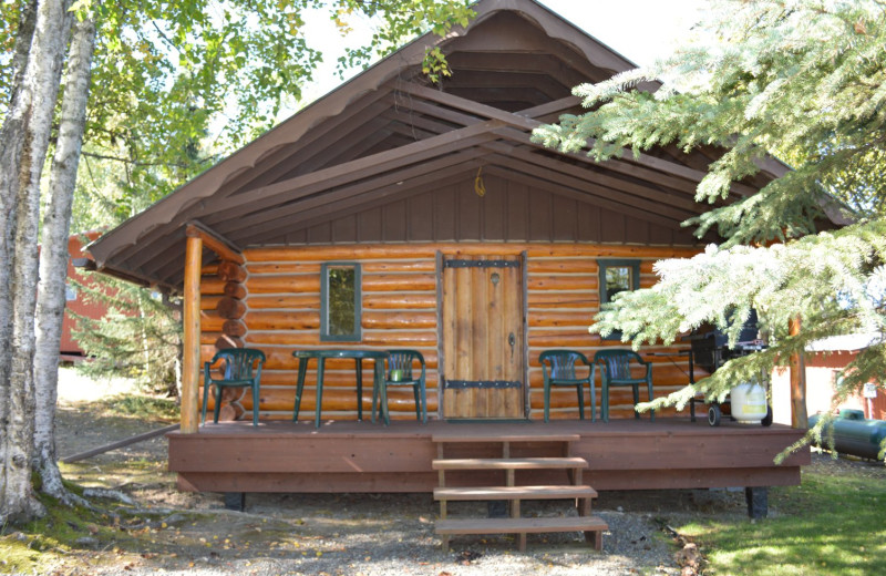 Cabin exterior at St. Theresa's Lakeside Resort.
