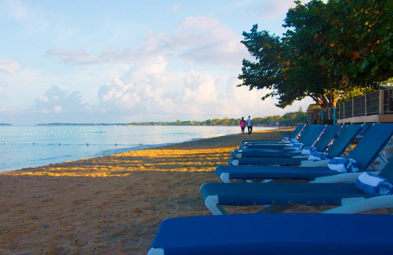 Beach at Travellers Beach Resort.
