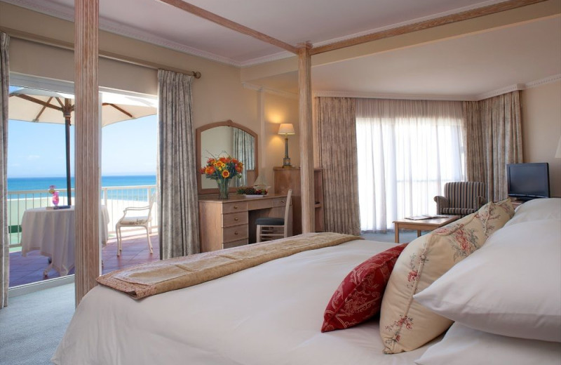 Guest room at Beach Hotel.