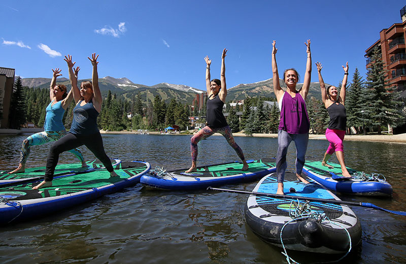 Paddle board at Grand Lodge on Peak 7.