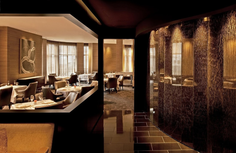 Restaurant view at Elysian Hotel.