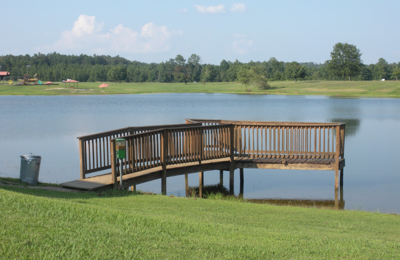 Dock at Big Buck Resort.