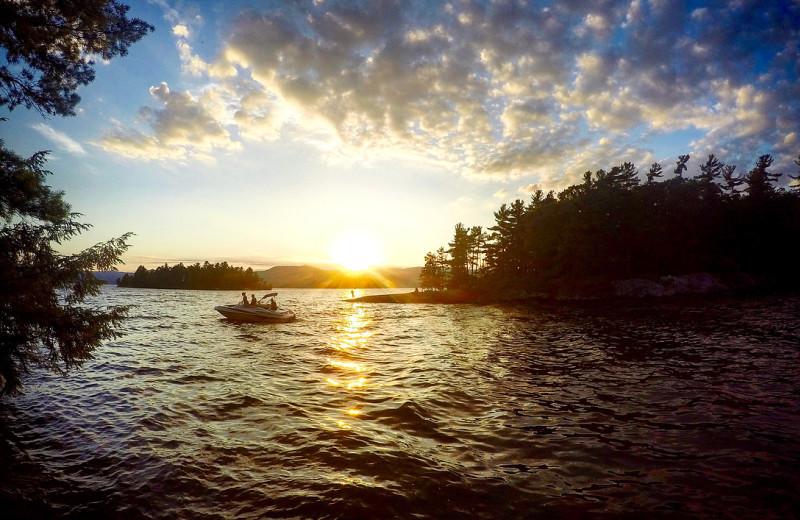 Lake sunset at Vacation Rentals by