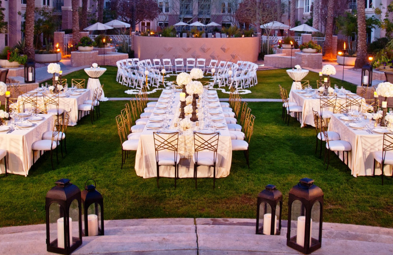 Wedding reception at Gainey Suites Hotel.