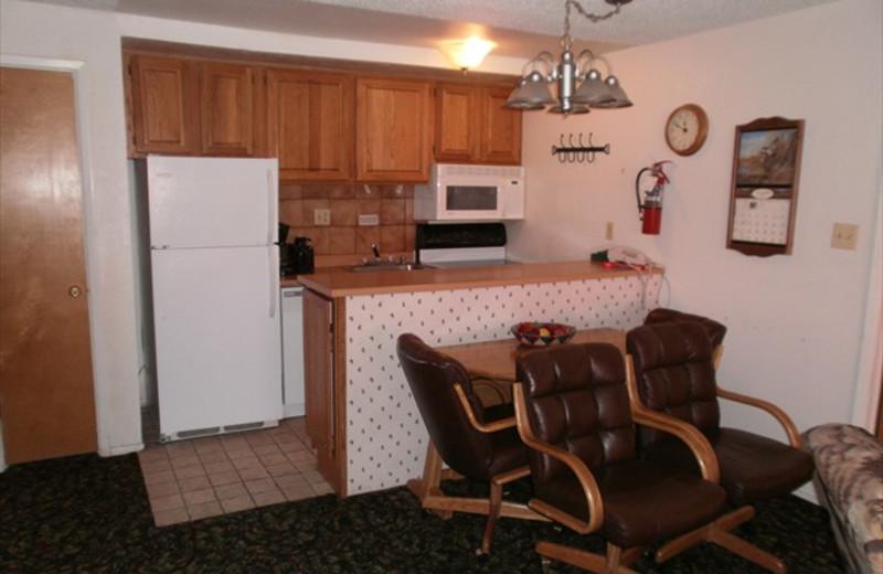 Kitchen Area at Lifts West Condominium Hotel