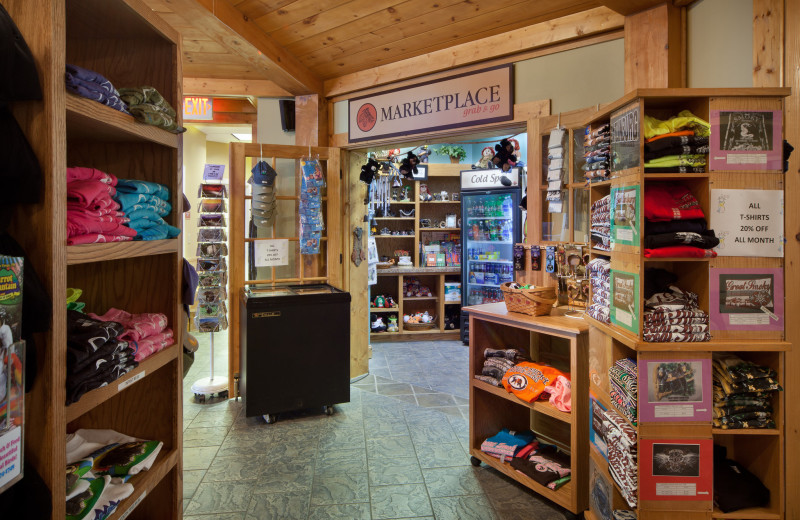 Gift shop at Holiday Inn Club Vacations Smoky Mountain Resort.