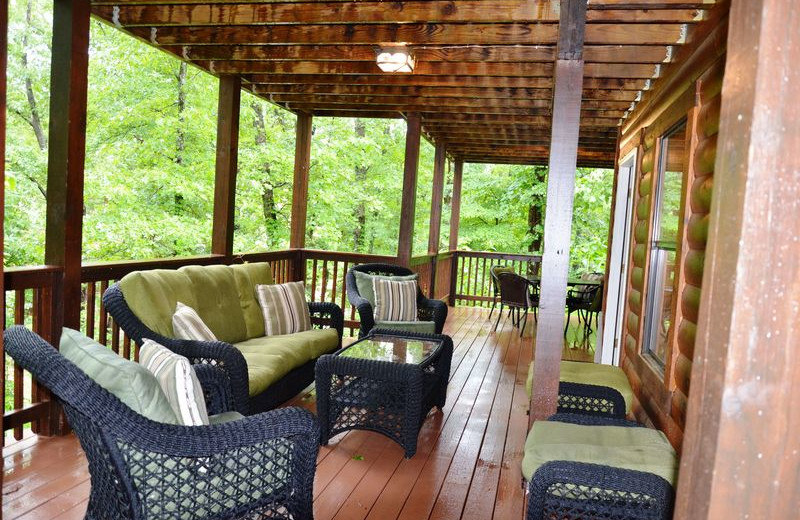 Rental porch at Amazing Branson Rentals.
