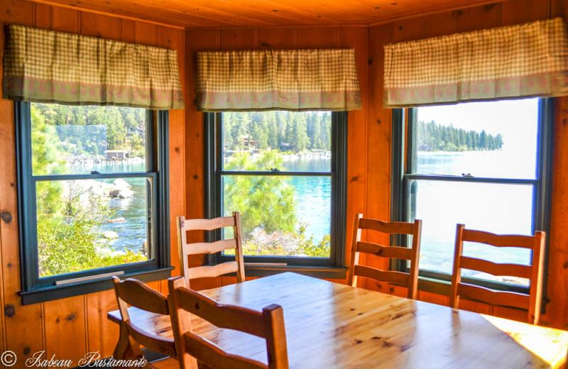 Mansion dining room at Meeks Bay Resort
