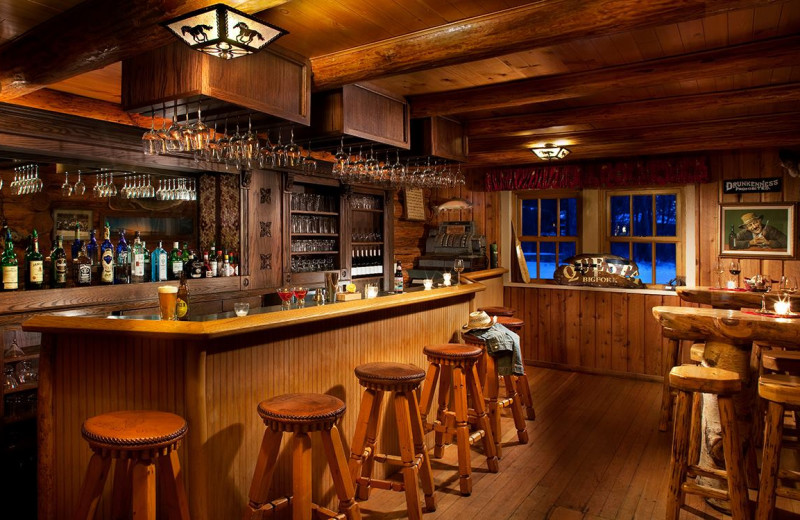 Bar at Averill's Flathead Lake Lodge.