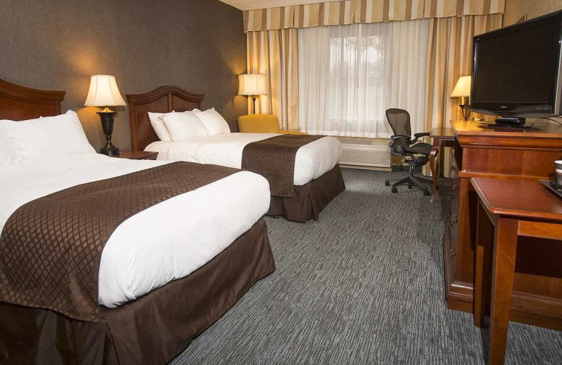 Guest room at Doubletree Hotel Detroit/Novi.