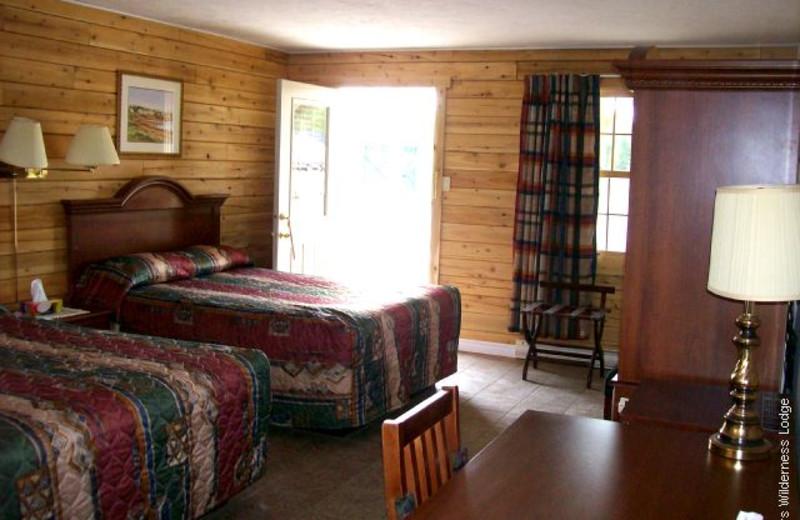 Guest room at Adair's Lodge & Cabins.