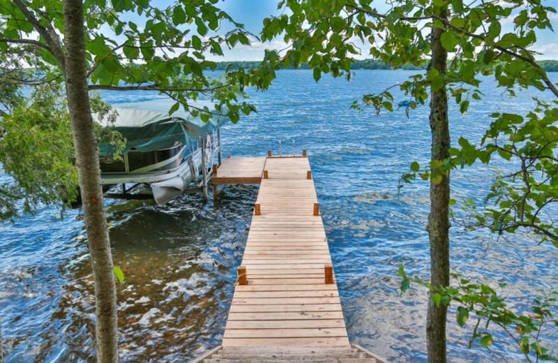 Rental dock at Northwoods Property Management.