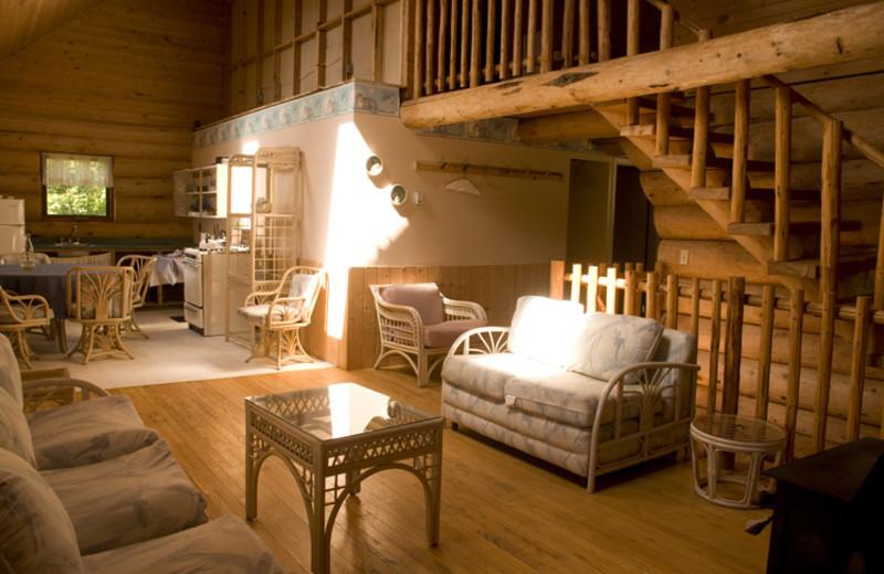 Interior view of Crooked Lake Resort.