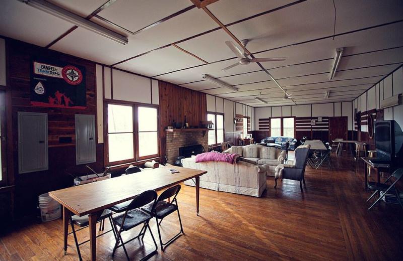 Lodge interior at Pinecrest Camp Lodge.