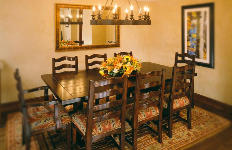 Rental dining room at Frias Properties of Aspen - Hyatt Grand Aspen.