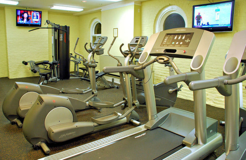 Fitness room at Jekyll Island Club Hotel.