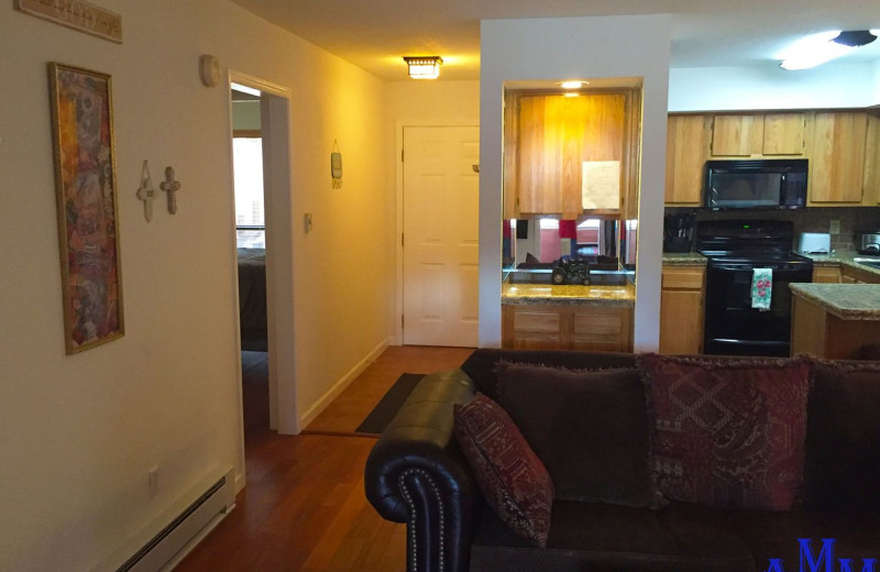 Rental kitchen at Cozy Mountain Condo (AMM Properties).