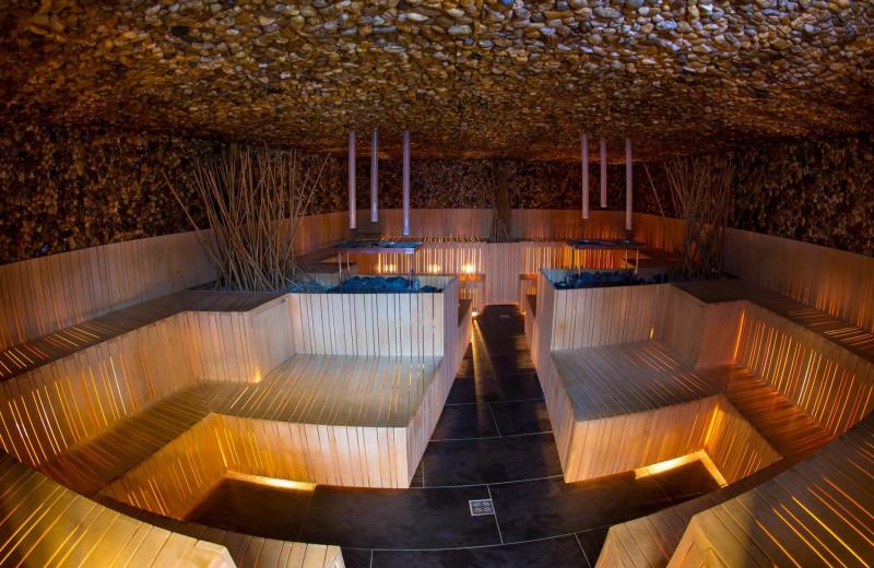 Sauna at Terme Olimia.