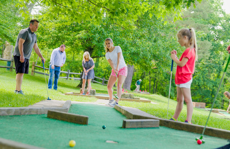 Mini golf at Oglebay Resort and Conference Center.