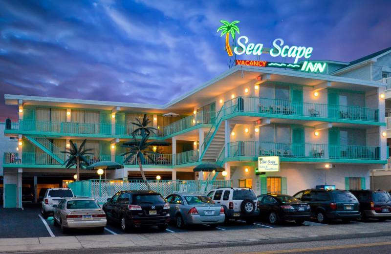 Exterior view of Sea Scape Inn.