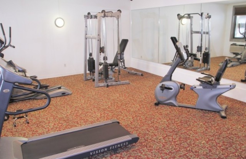 Fitness center at Lake Placid Summit Hotel Resort Suites.