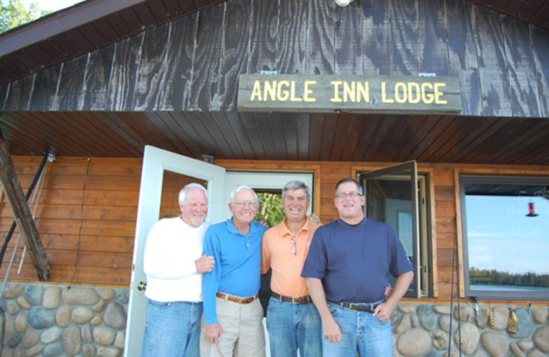 Exterior view of Angle Inn Lodge.