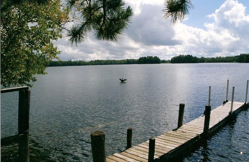 Lake view at Loon Point Resort.