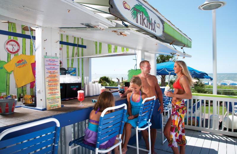 Outdoor bar at Paradise Resort.