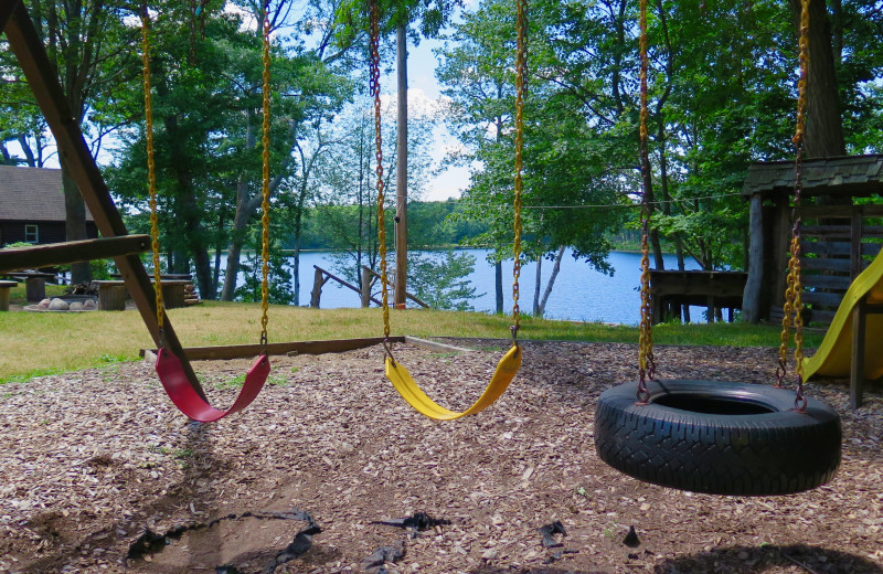Kid's playground at Sleeping Bear Resort.