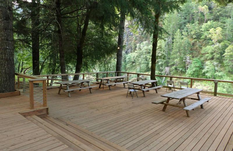 Deck at Half Moon Bar Lodge.