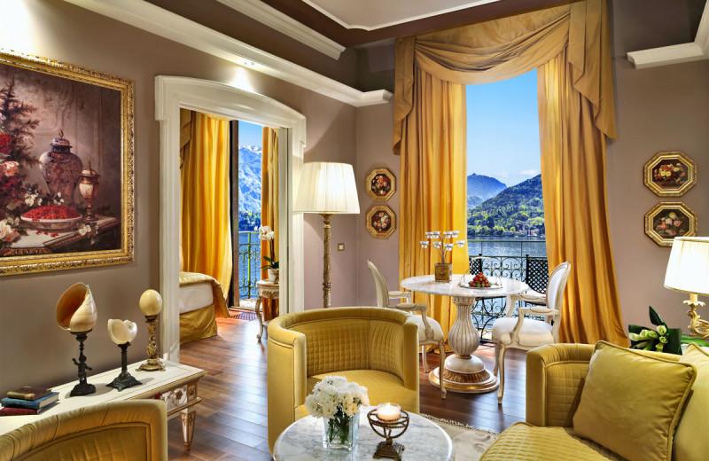 Guest suite at Grand Hotel Tremezzo.