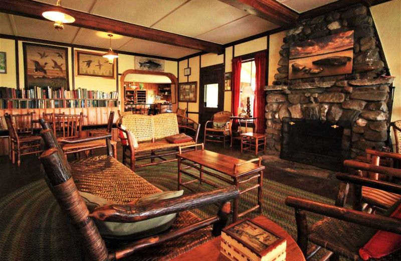 Lobby at Quimby Country Lodge & Cottages.