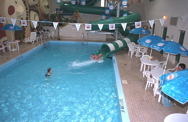 Indoor pool at Falcon Lake Resort Hotel.