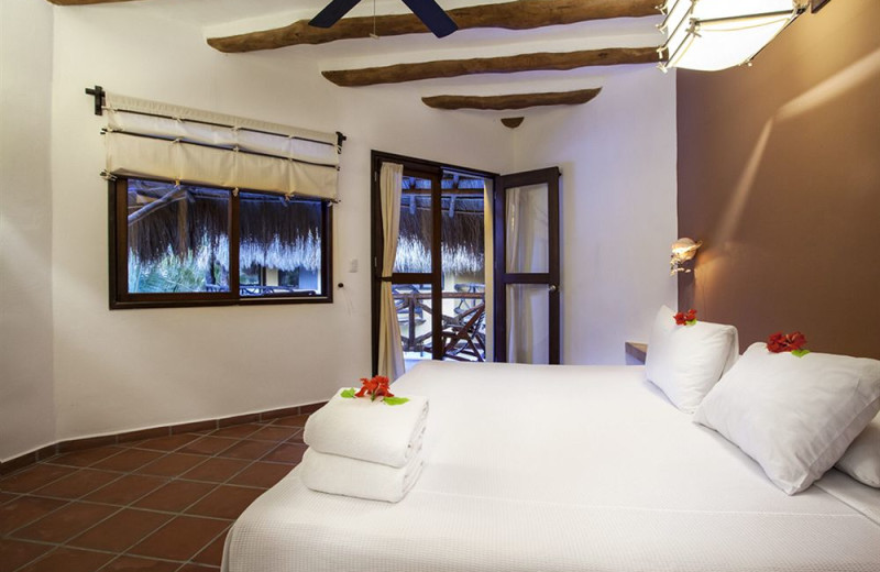 Guest room at Holbox Collection Hotels.
