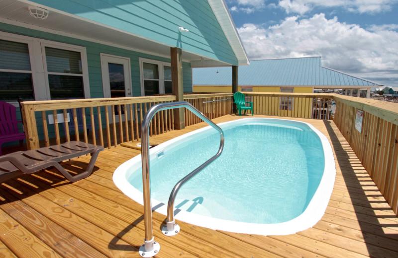 Rental pool at Reed Real Estate Vacation Rentals.
