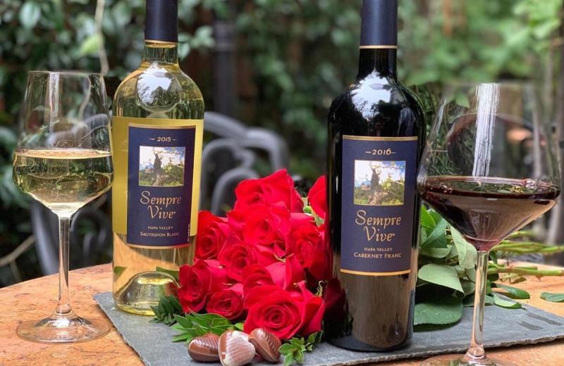 Wine tasting at Aurora Park Cottages.