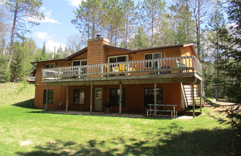 Cabin exterior at Idle Hours Resort.