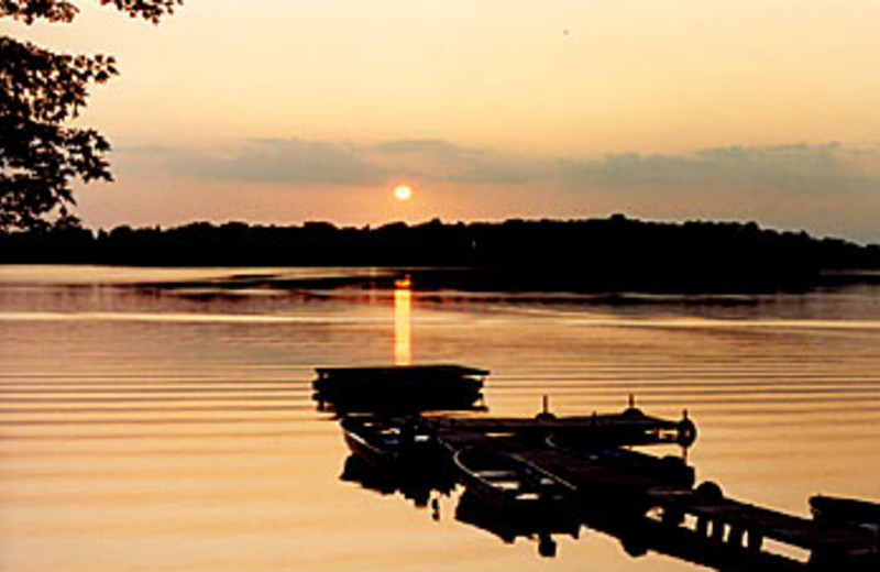 Beautiful Sunset on the Dock at Sunset Bay Resort