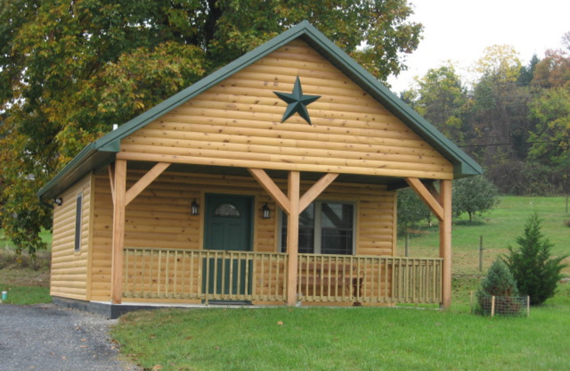 Cabin exterior at 7C's Lodging.