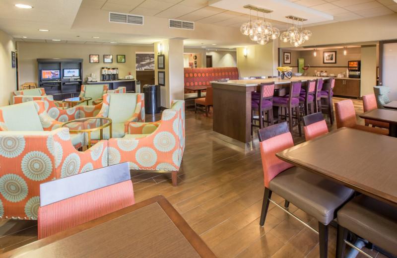 Lobby at Hampton Inn St. Joseph.