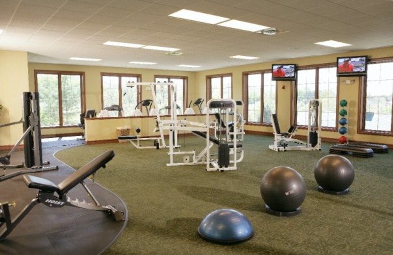 Fitness room at RiverStone Resort.