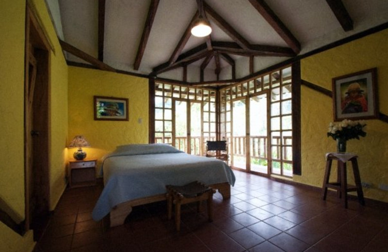 Guest room at Hacienda Primavera Wilderness Ecolodge.