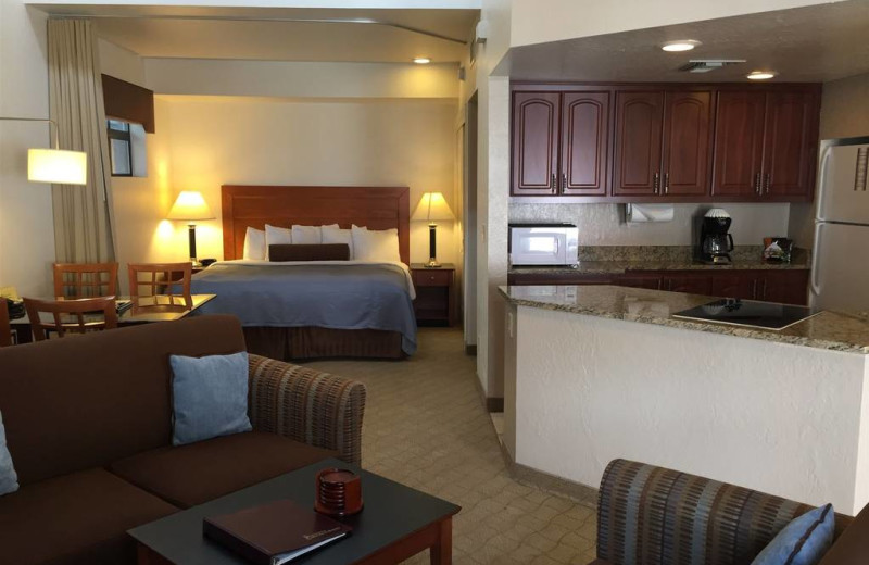 Guest room at Scottsdale Camelback Resort.