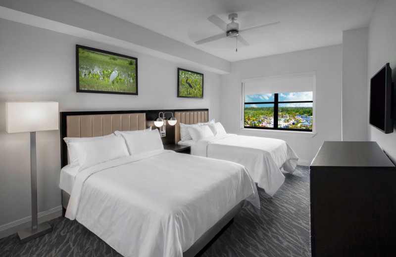 Guest bedroom at The Grove Resort & Spa.