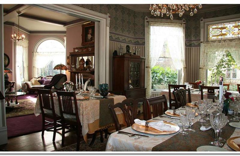 Dining room at LA Belle Epoque.