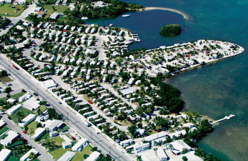 Aerial view of Boyd's Key West Campground Inc.