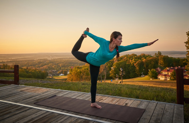 Yoga at Crystal Mountain Resort.