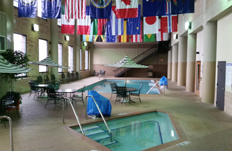Indoor pool at The Suites Hotel at Waterfront Plaza.