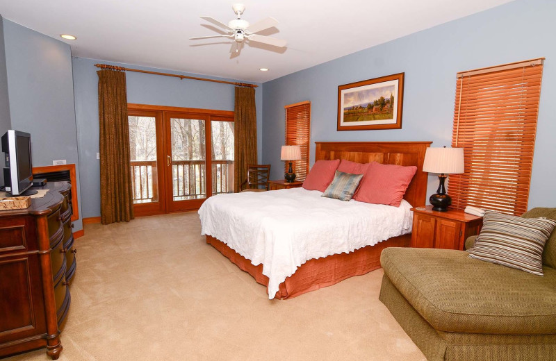 Rental bedroom at Railey Vacations.
