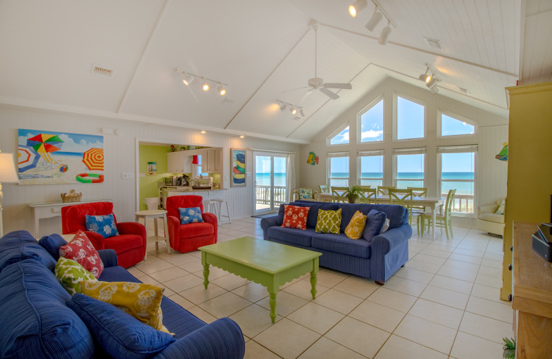 Rental living room at Paradise Gulf Properties.
